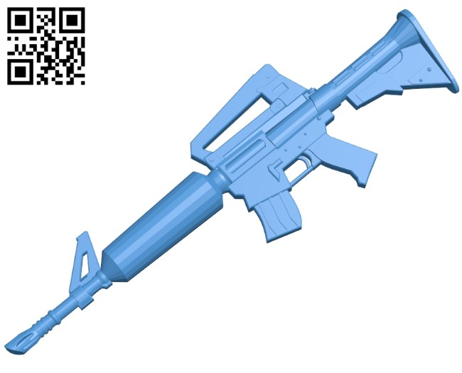 Fortnite Ar Gun B005013 File Stl Free Download 3d Model For Cnc And 3d Printer Download Free Stl Files