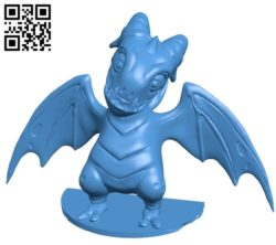 Fortnite Dragon B004869 file stl free download 3D Model for CNC and 3d printer