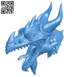Furious dragon head B005239 file stl free download 3D Model for CNC and 3d printer