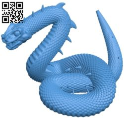 Giant viper snake B005031 file stl free download 3D Model for CNC and 3d printer