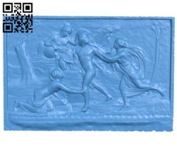 Gilas and Nymphs A003816 wood carving file stl free 3d model download for CNC