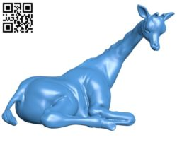 Giraffe figurine B005177 file stl free download 3D Model for CNC and 3d printer