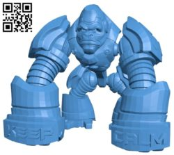 Gorilla tron robot B005208 file stl free download 3D Model for CNC and 3d printer