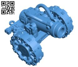 Grot cannon – gun B005205 file stl free download 3D Model for CNC and 3d printer