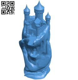 Hand castle house B005213 file stl free download 3D Model for CNC and 3d printer