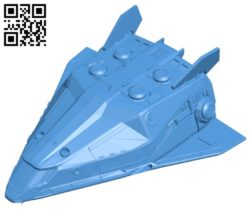Hauler war ship B005230 file stl free download 3D Model for CNC and 3d printer