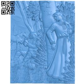 He played the flute A003683 wood carving file stl for Artcam and Aspire free art 3d model download for CNC