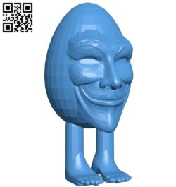 Head Humpty Anonymous B005240 file stl free download 3D Model for CNC and 3d printer