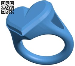 Heart ring B005063 file stl free download 3D Model for CNC and 3d printer