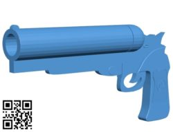 Hellboy gun B004923 file stl free download 3D Model for CNC and 3d printer
