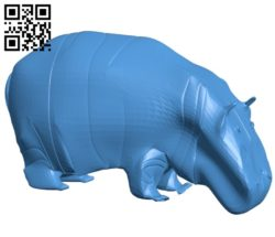 Hippo figurine B005229 file stl free download 3D Model for CNC and 3d printer