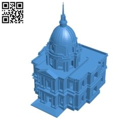 Invalides House B004956 file stl free download 3D Model for CNC and 3d printer