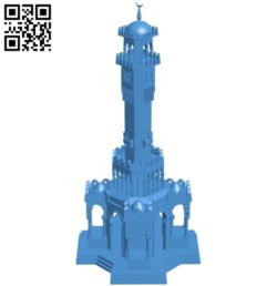 Izmir Clock Tower – House B004973 file stl free download 3D Model for CNC and 3d printer