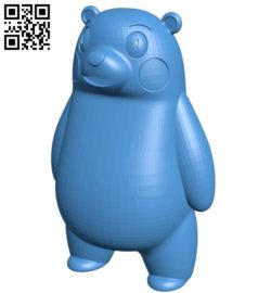 Kumamon Bear B005216 file stl free download 3D Model for CNC and 3d printer