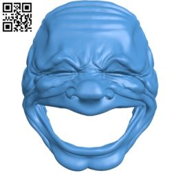 Laughing Face Mask B005029 file stl free download 3D Model for CNC and 3d printer