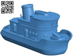 Little boat Ship B005077 file stl free download 3D Model for CNC and 3d printer