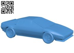 Lotus Esprit Car B004901 file stl free download 3D Model for CNC and 3d printer