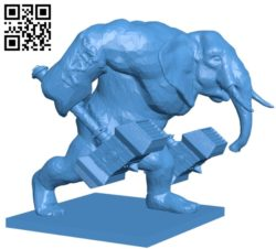 Loxodon Hammer B004938 file stl free download 3D Model for CNC and 3d printer