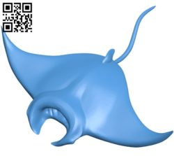Manta Ray – fish B005152 file stl free download 3D Model for CNC and 3d printer