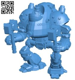 Mech SteamPunk warrior B005090 file stl free download 3D Model for CNC and 3d printer
