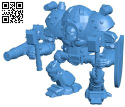 Mech Steampunk B005076 file stl free download 3D Model for CNC and 3d printer