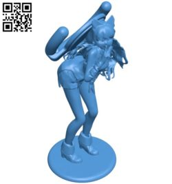 Miss Anime phone holder B005071 file stl free download 3D Model for CNC and 3d printer