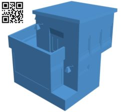 Modern house B005209 file stl free download 3D Model for CNC and 3d printer