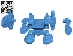 Modular Mech Heavy Guns B005242 file stl free download 3D Model for CNC and 3d printer