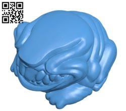 Monster frog B005249 file stl free download 3D Model for CNC and 3d printer