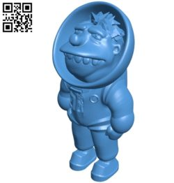 Mr Barney Astronaut B004928 file stl free download 3D Model for CNC and 3d printer