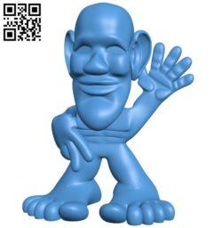 Mr Heebie Jeebie B005173 file stl free download 3D Model for CNC and 3d printer