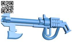Necron Gauss Flayer Gun B005180 file stl free download 3D Model for CNC and 3d printer