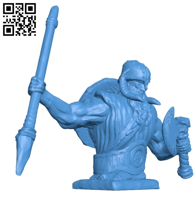 Nordic god B005014 file stl free download 3D Model for CNC and 3d printer
