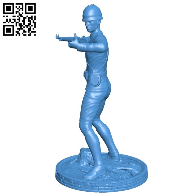 Old Soldier B004904 file stl free download 3D Model for CNC and 3d printer