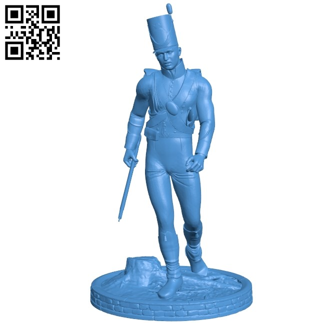 Old soldier B004893 file stl free download 3D Model for CNC and 3d printer