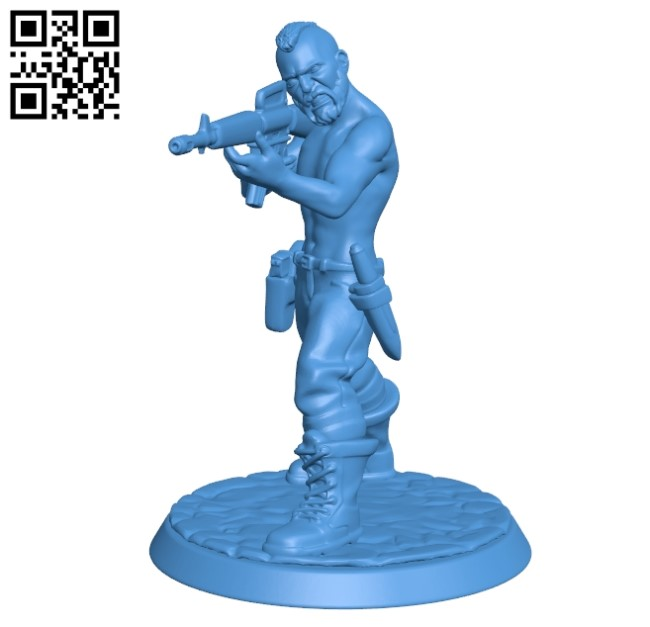 Old soldier with gun B004908 file stl free download 3D Model for CNC and 3d printer