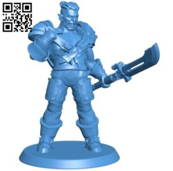 Orc paladine Man B005057 file stl free download 3D Model for CNC and 3d printer