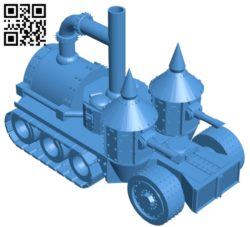 Orc's halftrack Tank B005118 file stl free download 3D Model for CNC and 3d printer