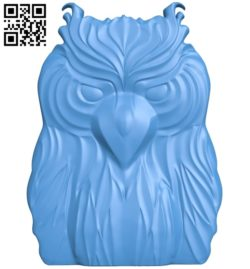 Owl pattern A003698 wood carving file stl for Artcam and Aspire free art 3d model download for CNC