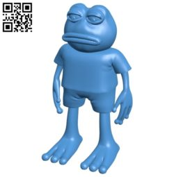 Pepe frog B004987 file stl free download 3D Model for CNC and 3d printer