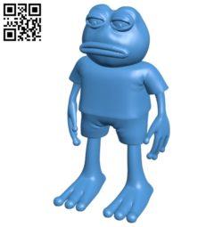 Pepe frog B004987 file stl free download 3D Model for CNC and 3d printer