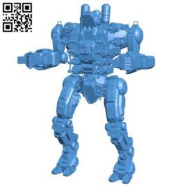 Piranha battletech B005247 file stl free download 3D Model for CNC and 3d printer