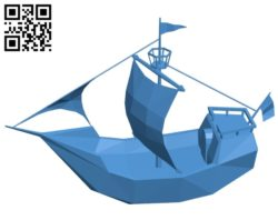 Pirates ship B004986 file stl free download 3D Model for CNC and 3d printer