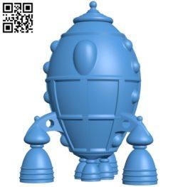Retro Rocket B005109 file stl free download 3D Model for CNC and 3d printer