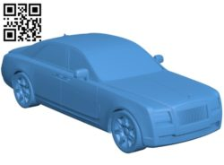 Rolls Royce Ghost Car B005260 file stl free download 3D Model for CNC and 3d printer