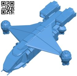 Ship landing module B005175 file stl free download 3D Model for CNC and 3d printer