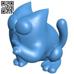 Simon cat hungry B005082 file stl free download 3D Model for CNC and 3d printer