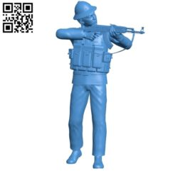 Soldier with AK gun B004911 file stl free download 3D Model for CNC and 3d printer