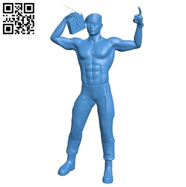 Soldier with radio B004892 file stl free download 3D Model for CNC and 3d printer