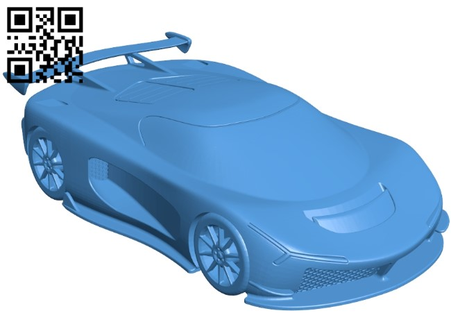 Super Car B005072 file stl free download 3D Model for CNC and 3d printer